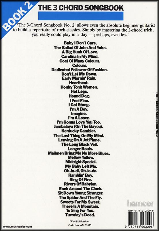 THE 3 CHORD SONGBOOK OF GREAT UKULELE SONGS - HAL LEONARD PUBLISHING CORPORATION