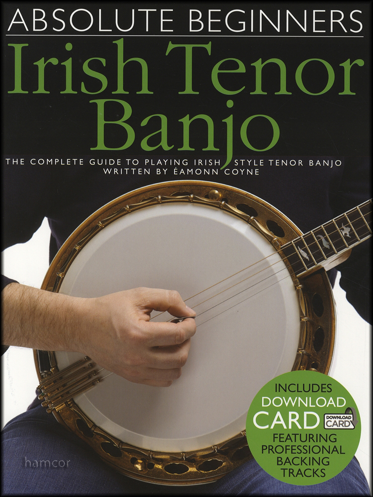 Absolute Beginners Irish Tenor Banjo 4-String TAB Book/DLC Audio Download Card : eBay