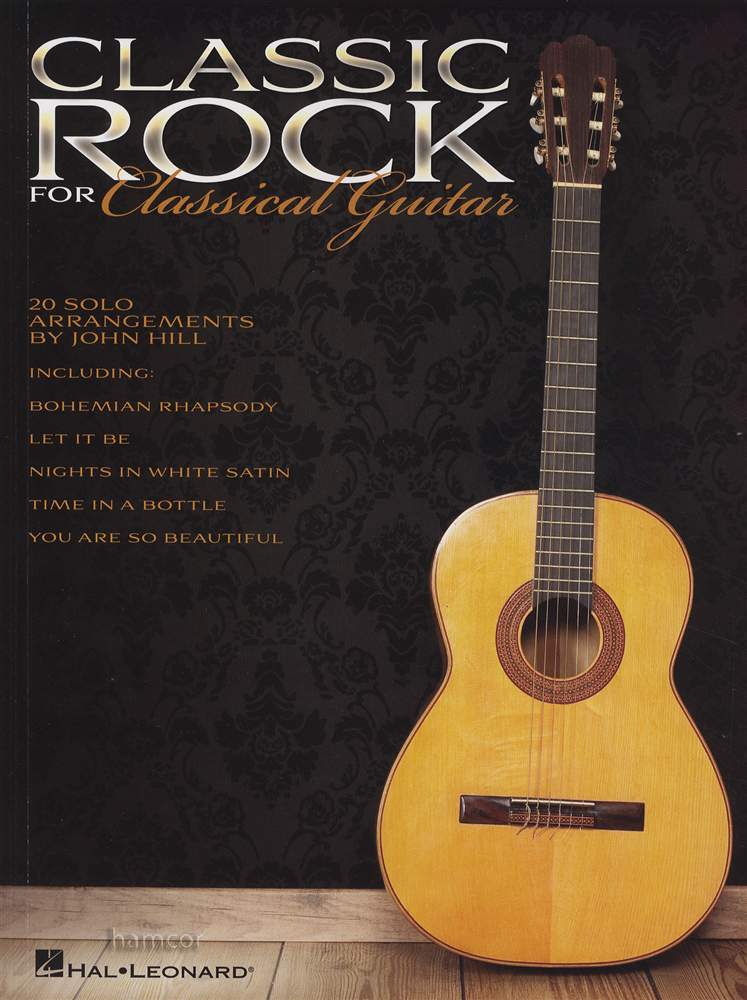 Classic Book Cover Guitar ~ Classic rock for classical guitar tab music book the