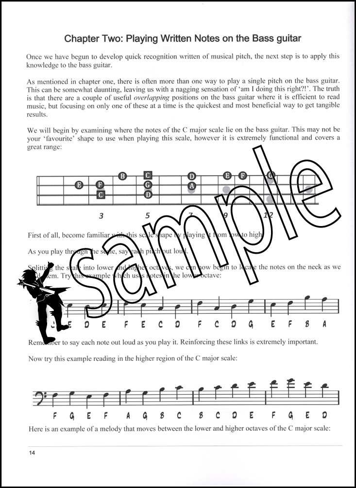 sight reading mastery for bass guitar music book dlc audio learn to read music ebay. Black Bedroom Furniture Sets. Home Design Ideas