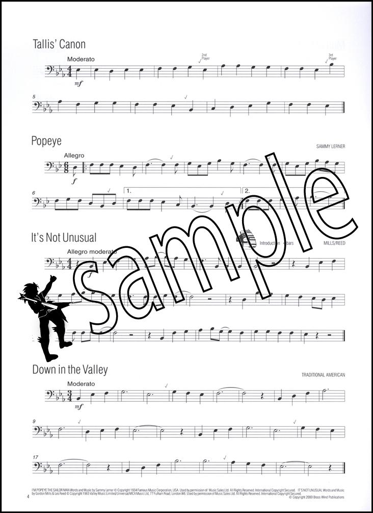 easy winners for trombone bass clef sheet music book cd ebay. Black Bedroom Furniture Sets. Home Design Ideas