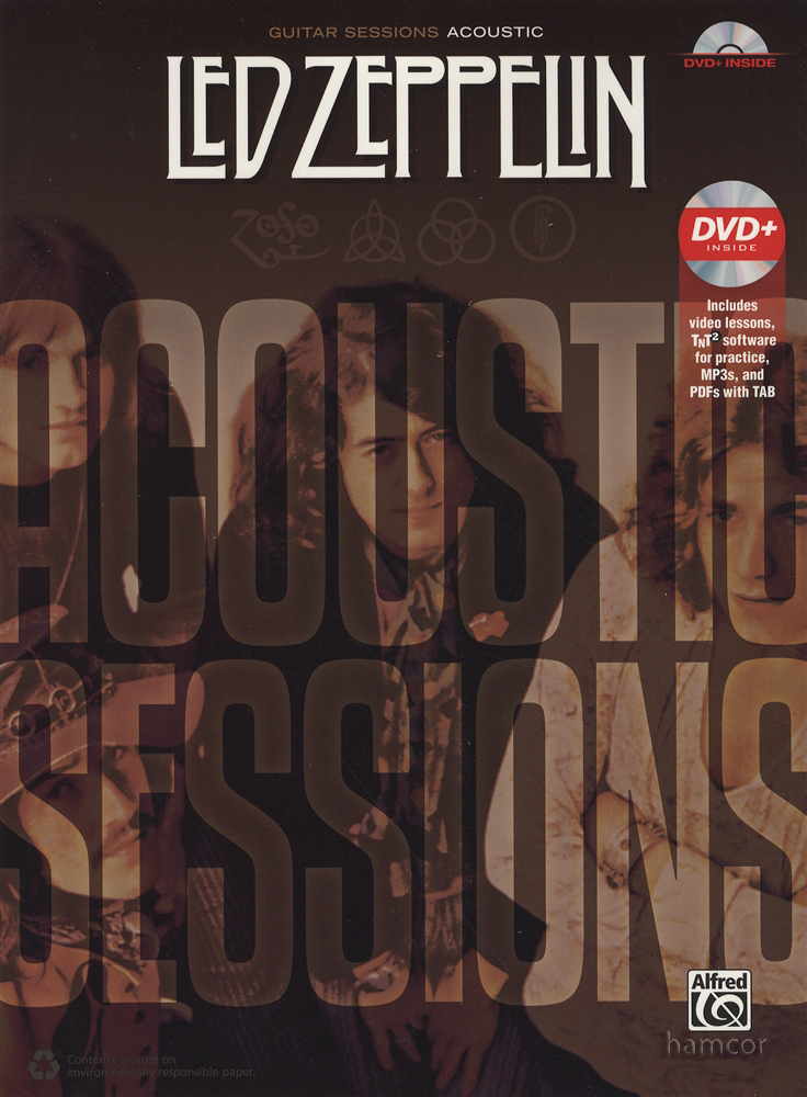 led zeppelin acoustic sessions guitar tab music book dvd ebay. Black Bedroom Furniture Sets. Home Design Ideas