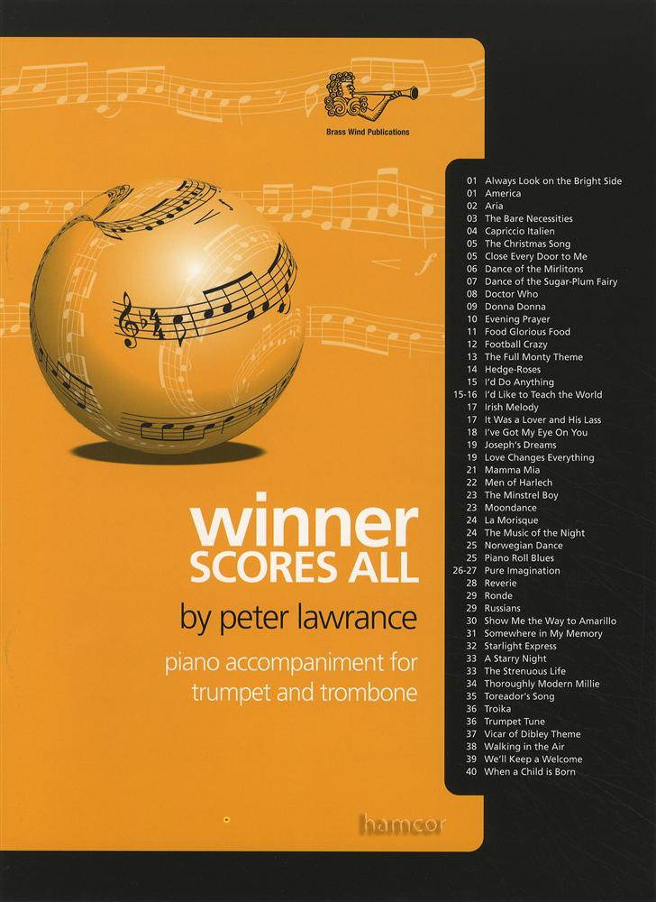 winner scores all piano accompaniment for trumpet trombone music book ebay. Black Bedroom Furniture Sets. Home Design Ideas
