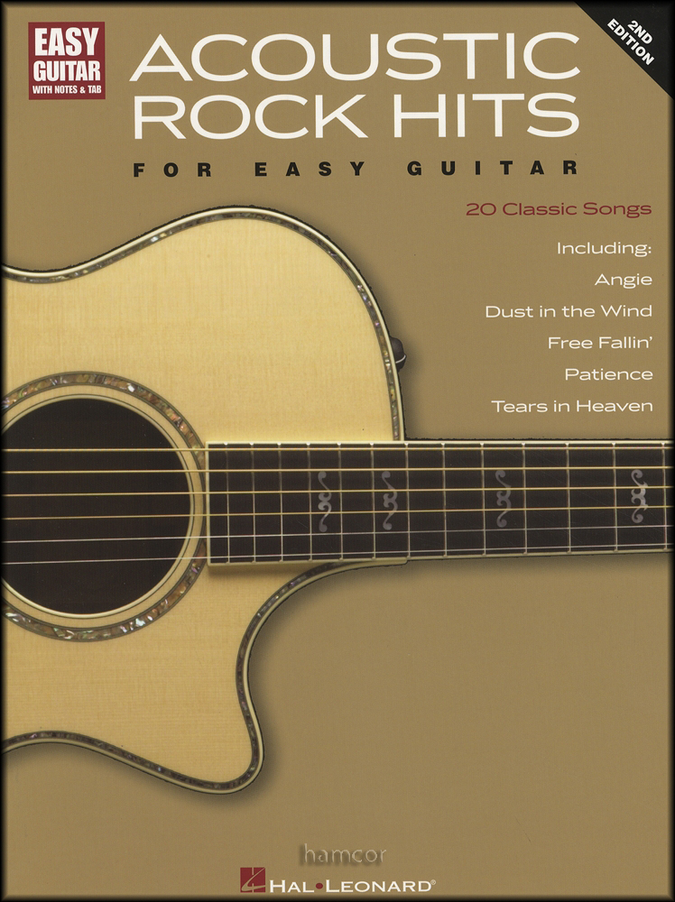 Acoustic Rock Hits for Easy Guitar TAB Music Book 2nd Edition Beatles Who Eagles : eBay