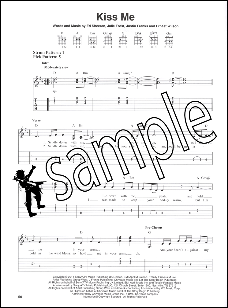 Ed Sheeran for Easy Guitar TAB Sheet Music Book A-Team Sing Photograph : eBay