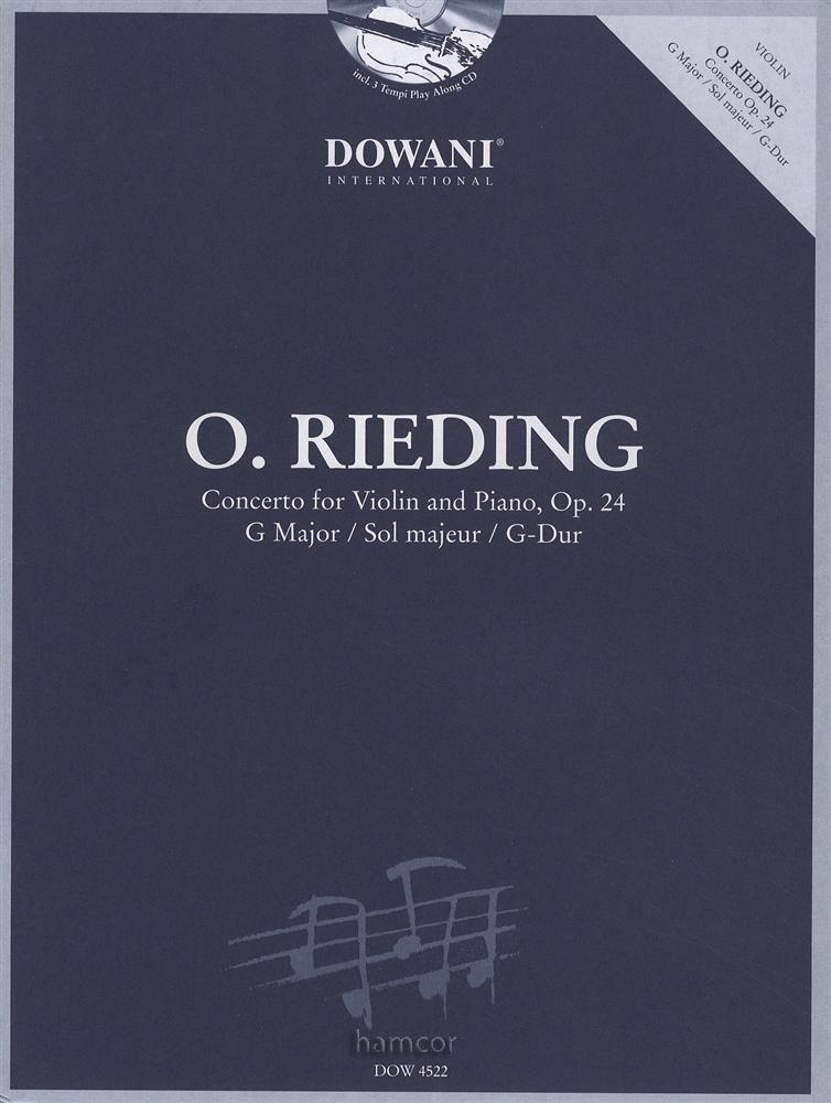 O Rieding Concerto for Violin Op 24 Book/CD | Hamcor