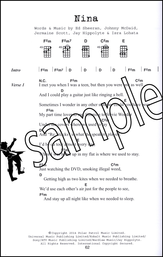 Ed Sheeran Ukulele Chord Songbook + X Plus Multiply A Team Sing Photograph : eBay