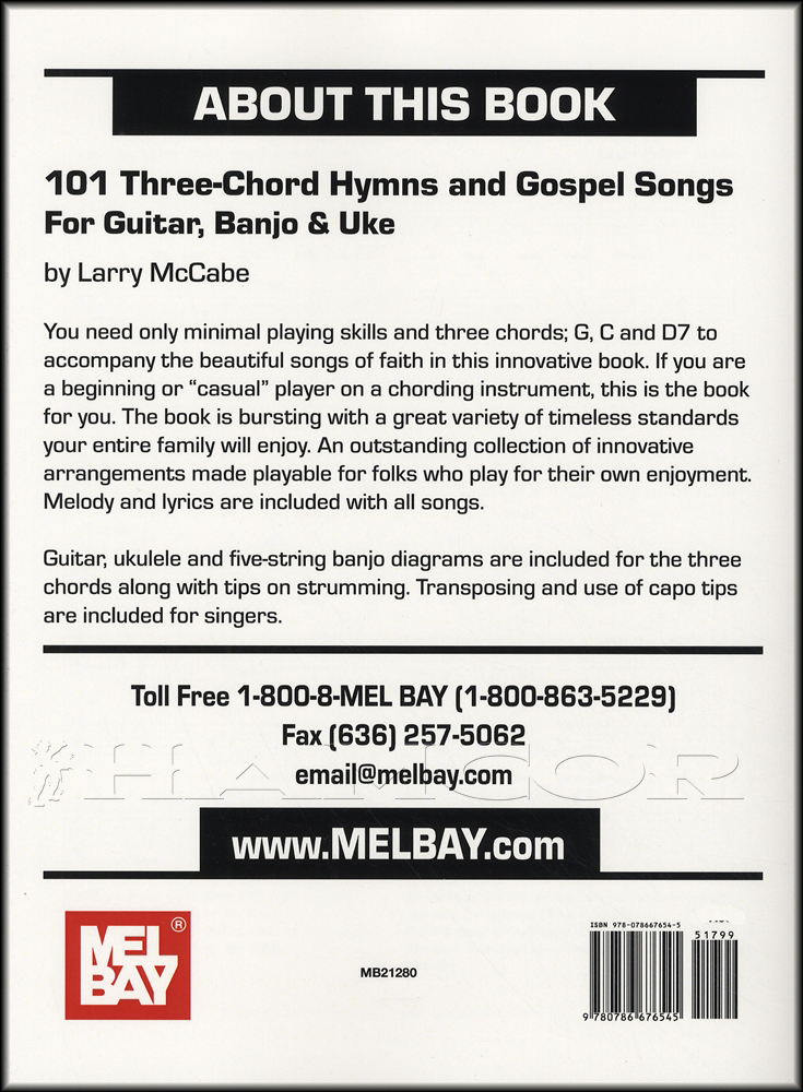101 Three-Chord Hymns and Gospel Songs for Guitar Banjo u0026 Uke Ukulele Music Book : eBay