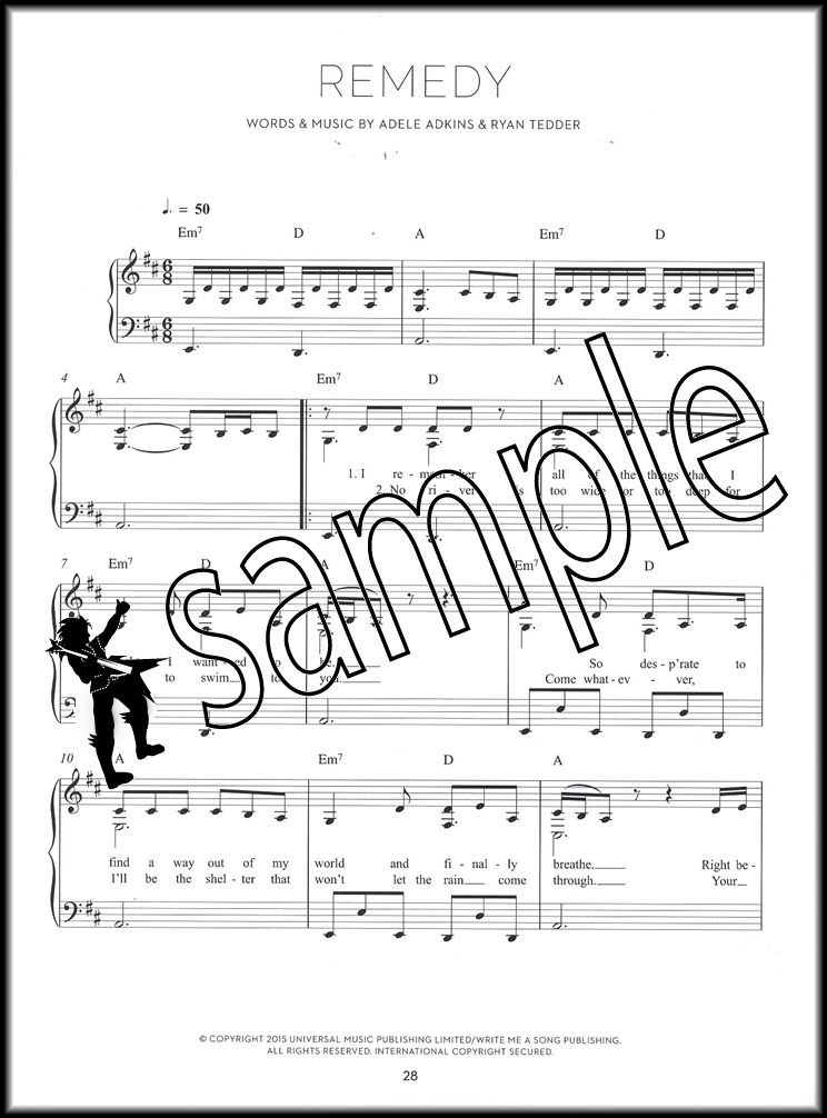 Adele 25 Piano Sheet Music Guitar Chords Lyrics Full Album Hello