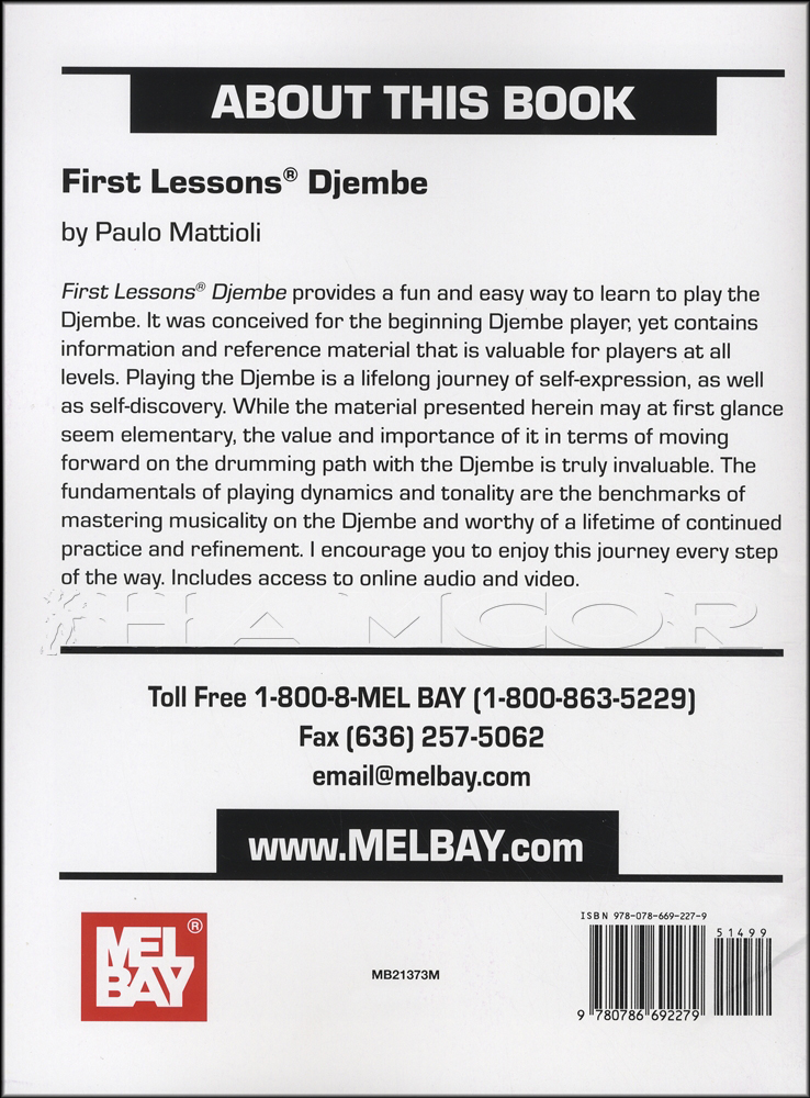 Video//First Lessons Djembe Book/Audio/Video | Hamcor