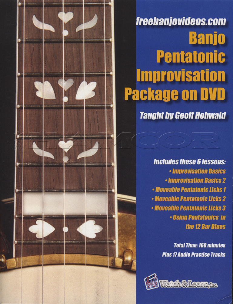 Banjo Pentatonic Improvisation Package TAB Book with DVD Learn To Play 5 String