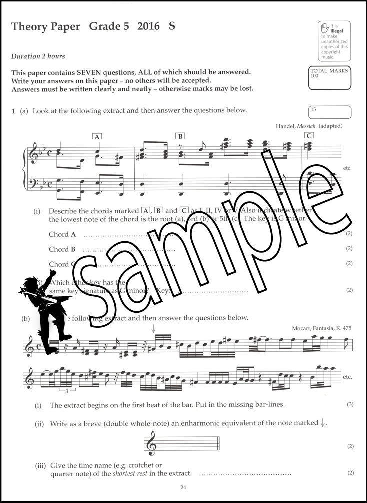 Image Result For Abrsm Music Theory Exam Grade