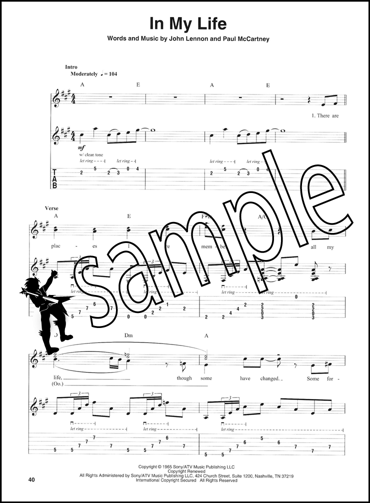 the beatles guitar play along tab music book with audio day tripper birthday. Black Bedroom Furniture Sets. Home Design Ideas