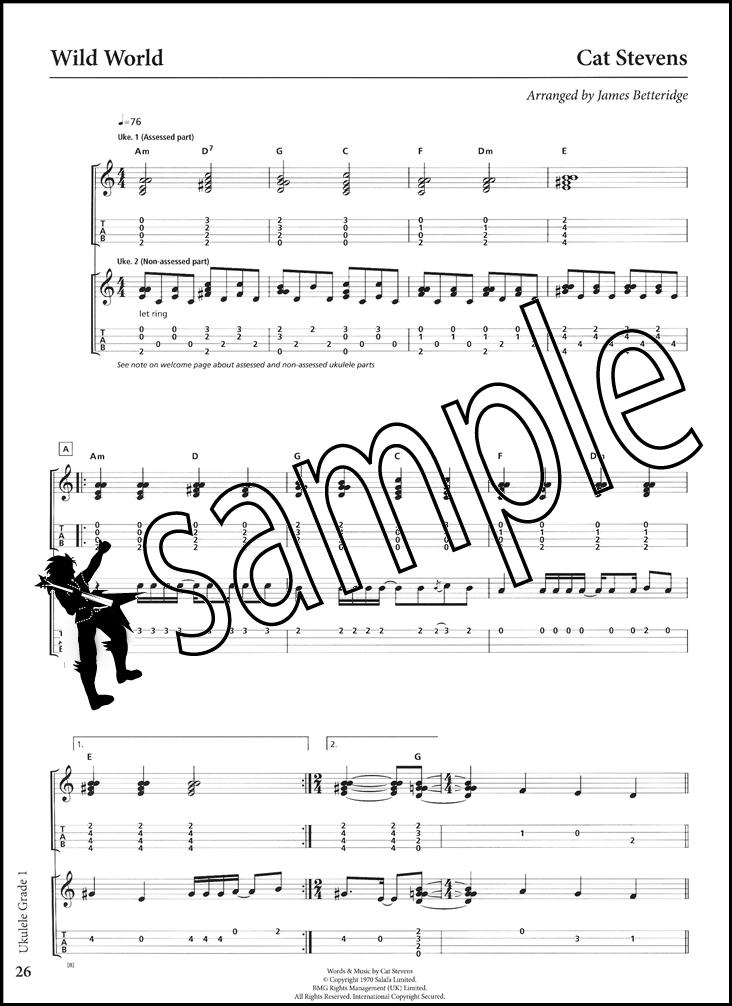 Rockschool Ukulele Grade 1 TAB Music Book u0026 Audio From 2017 Adele Jason Mraz : eBay
