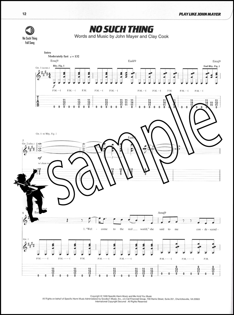 Dorable John Mayer Free Fallin Chords Vignette - Song Chords Images ...