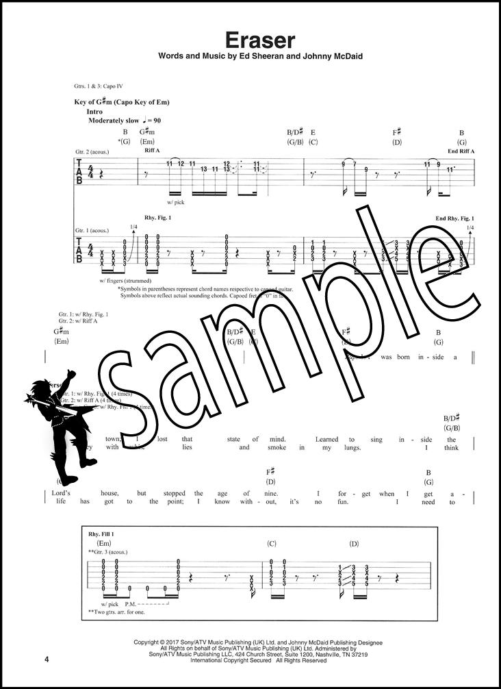 shape of you guitar tabs pdf