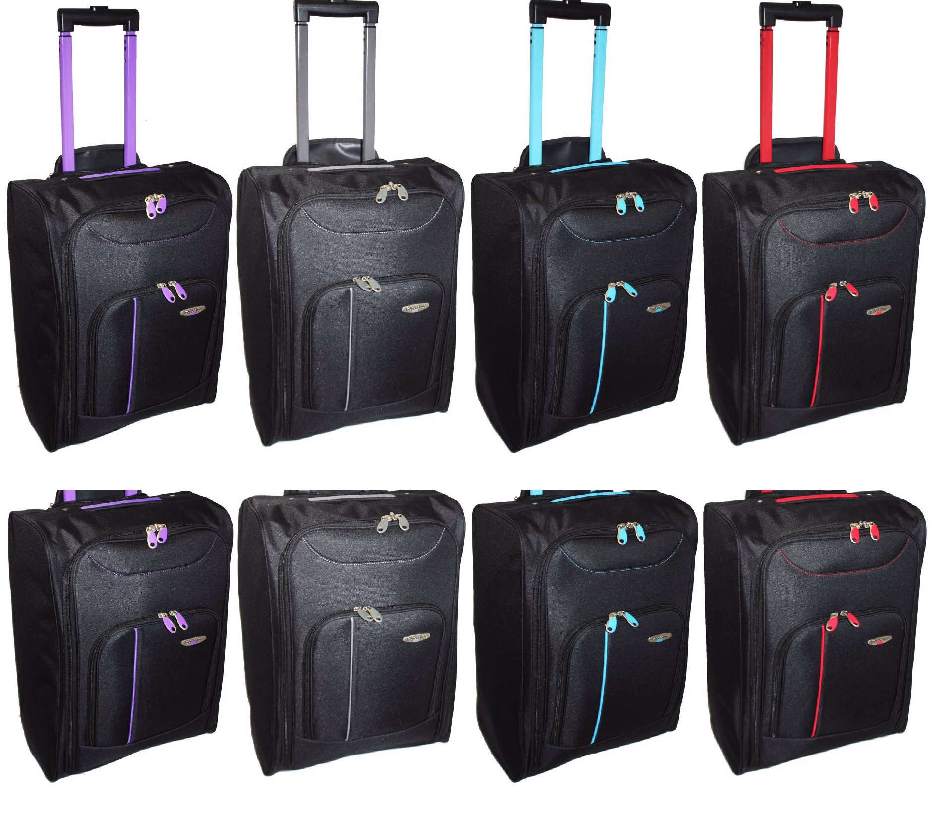NEW CABIN TRAVEL WHEELED LIGHTWEIGHT BAG HAND LUGGAGE SUITCASE ...