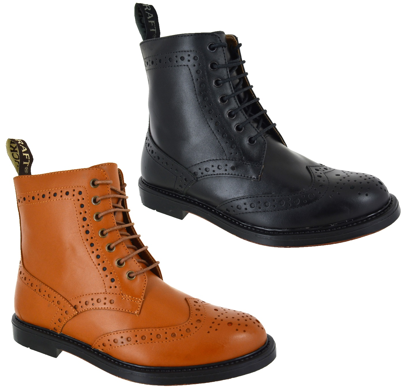 mens dealer lace up chelsea leather sole brogue office