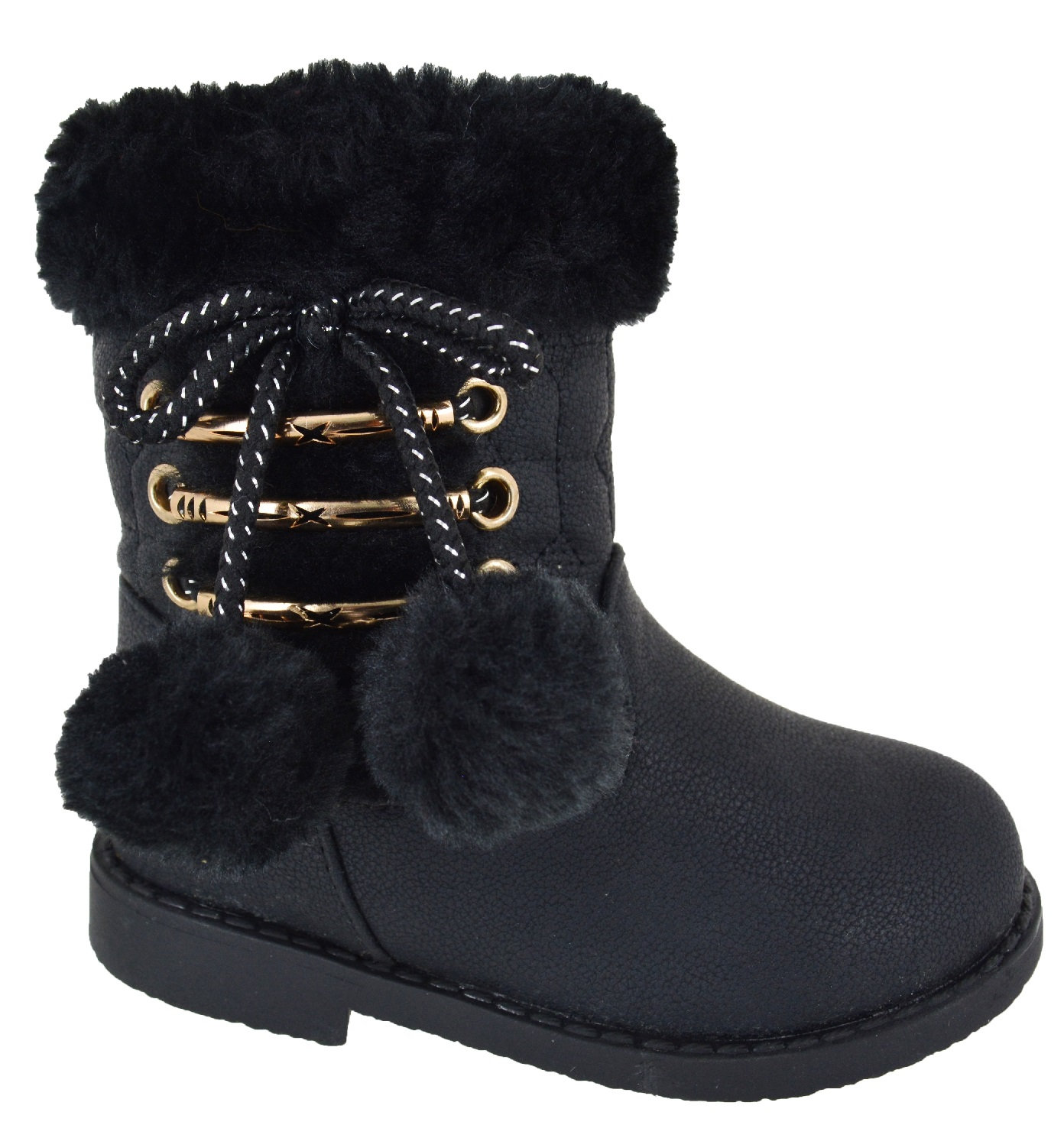 Kids Babies Girls Toodlers Ankle Grip Sole Boots Warm