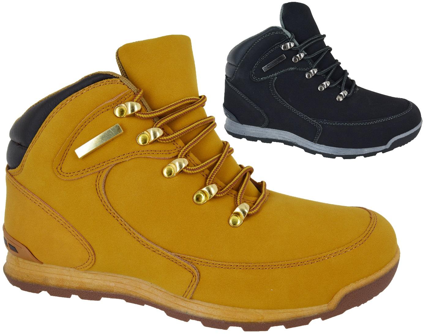 Botas con cordones para hombre invierno senderismo combate - Zapatos de trabajo ...