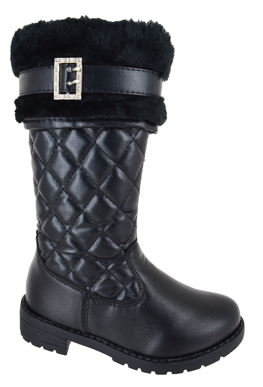 NEW KIDS GIRLS FLAT QUILTED INFANT FUR MID CALF SCHOOL