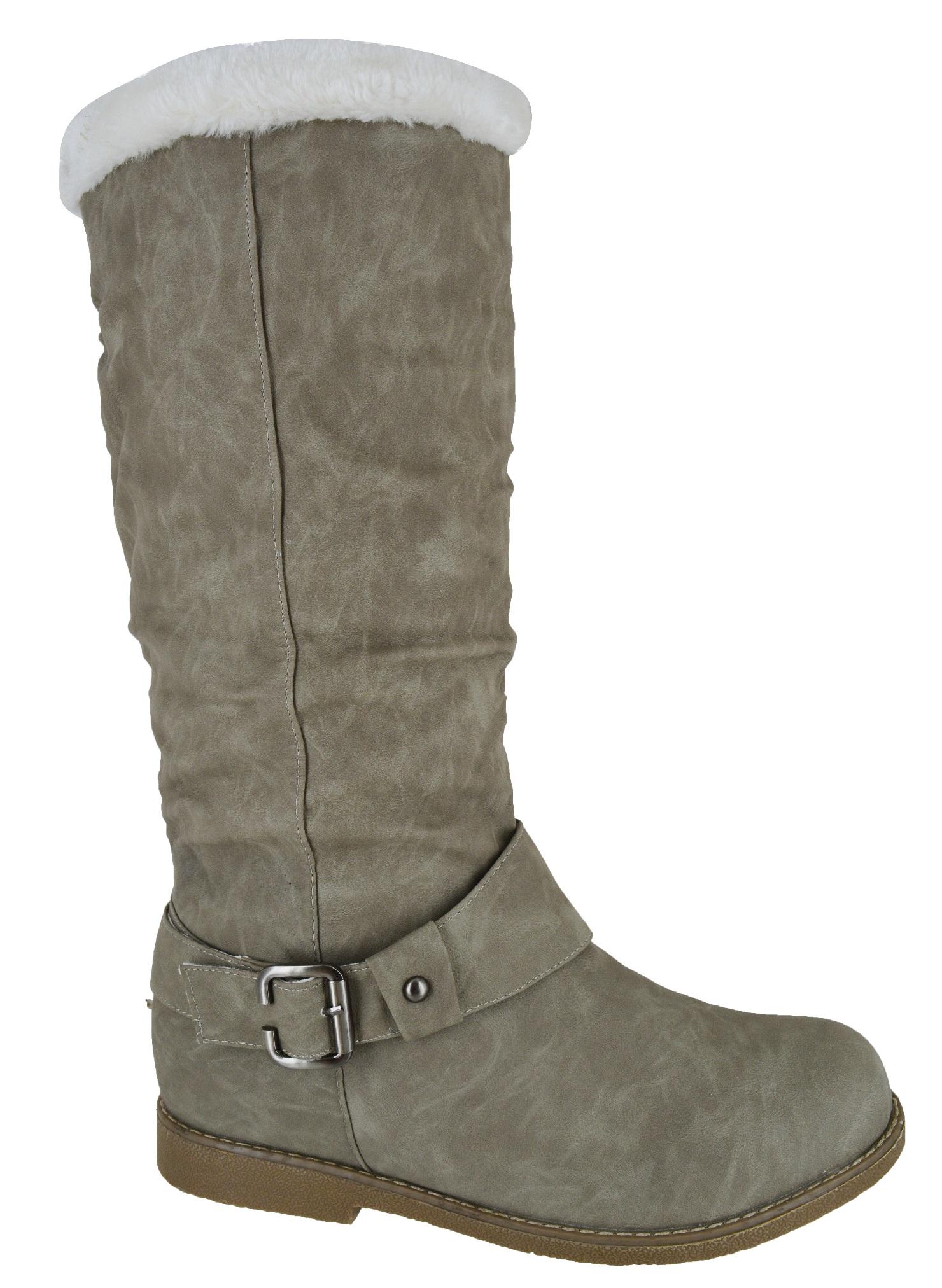 womens flat winter warm big large sizes grip sole