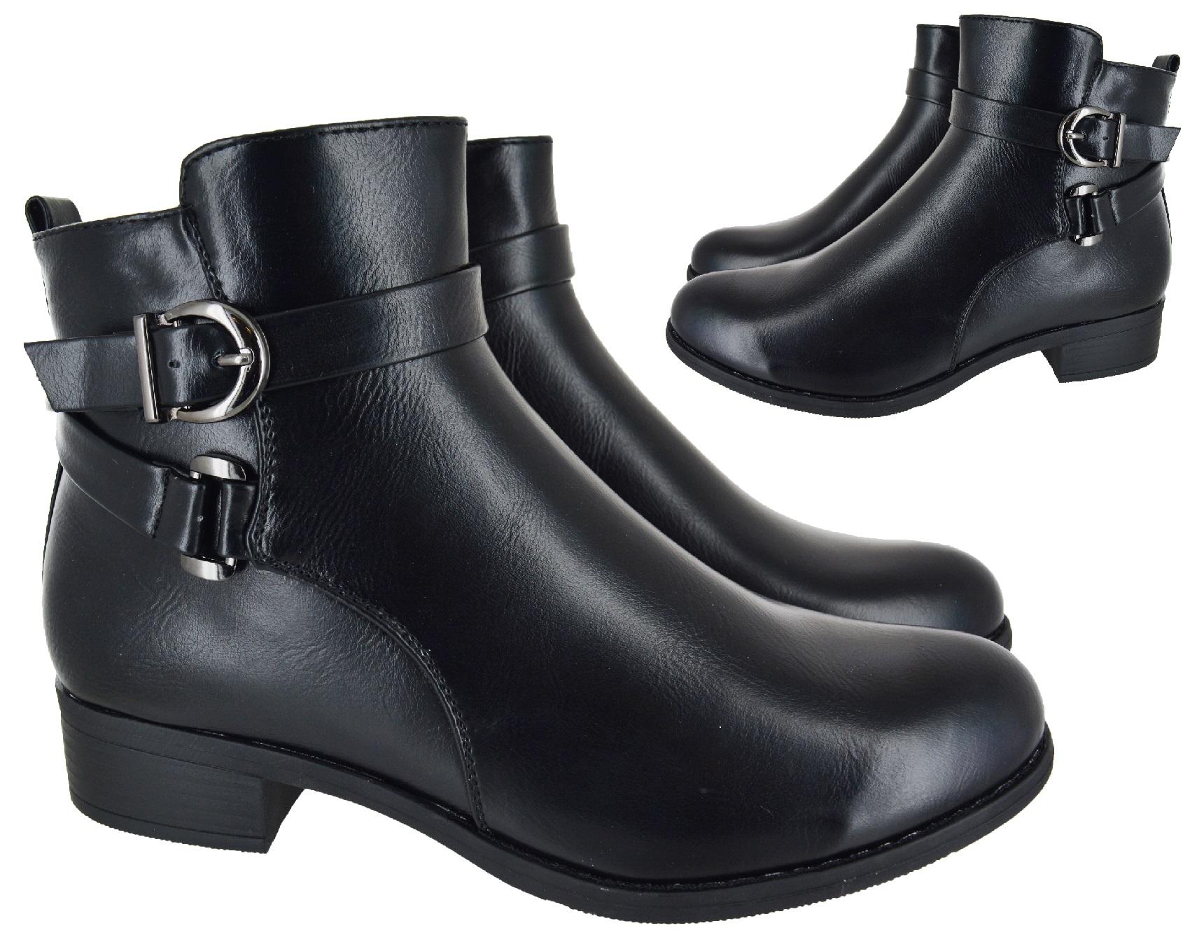 womens flat big large sizes ankle black fashion