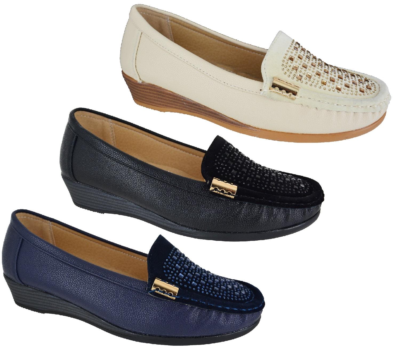 womens comfort mid low heel wedge work smart wedges