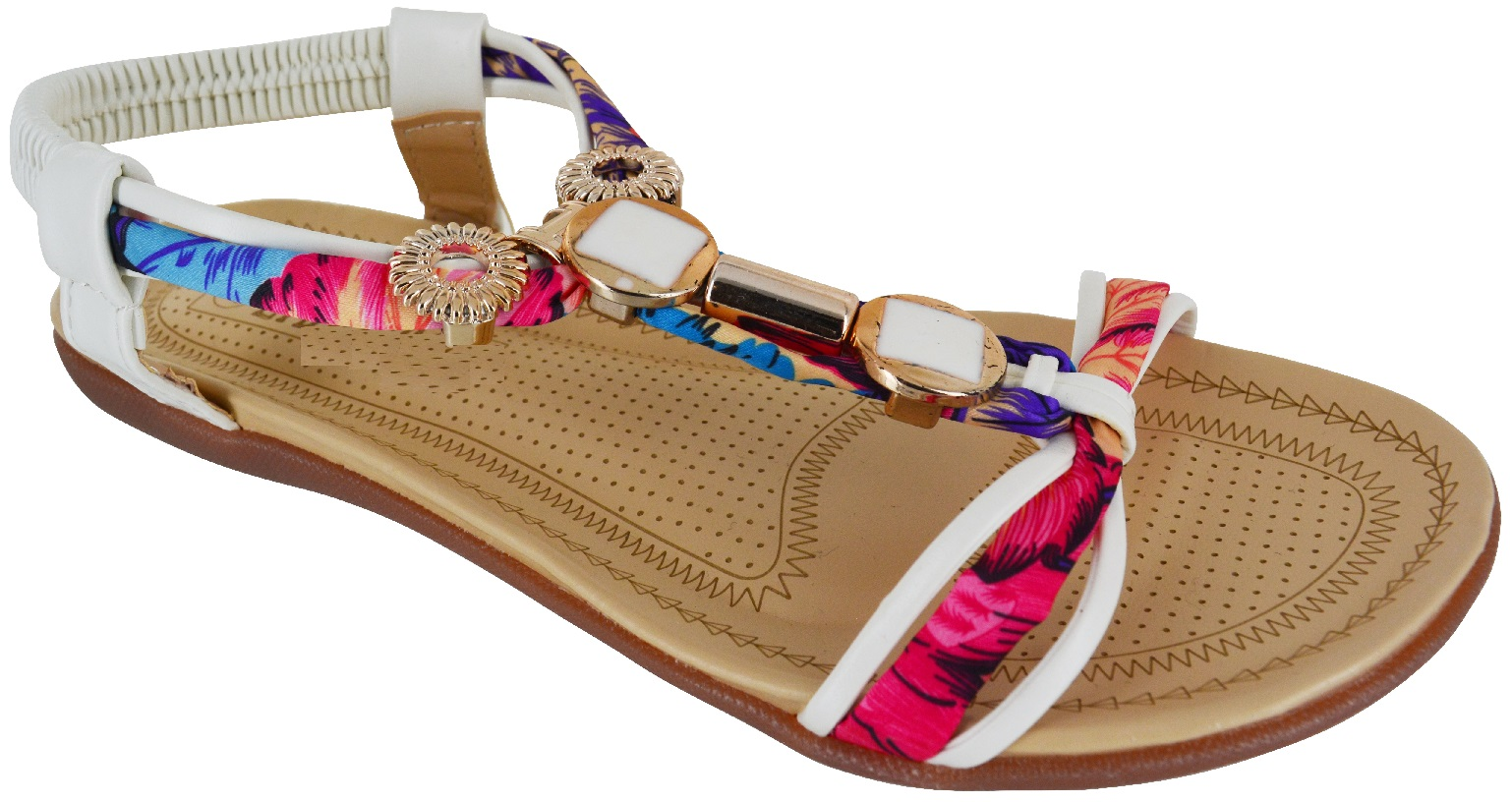 LADIES WOMENS FLAT BEACH SLING BACK COMFORT SUMMER SANDALS ...