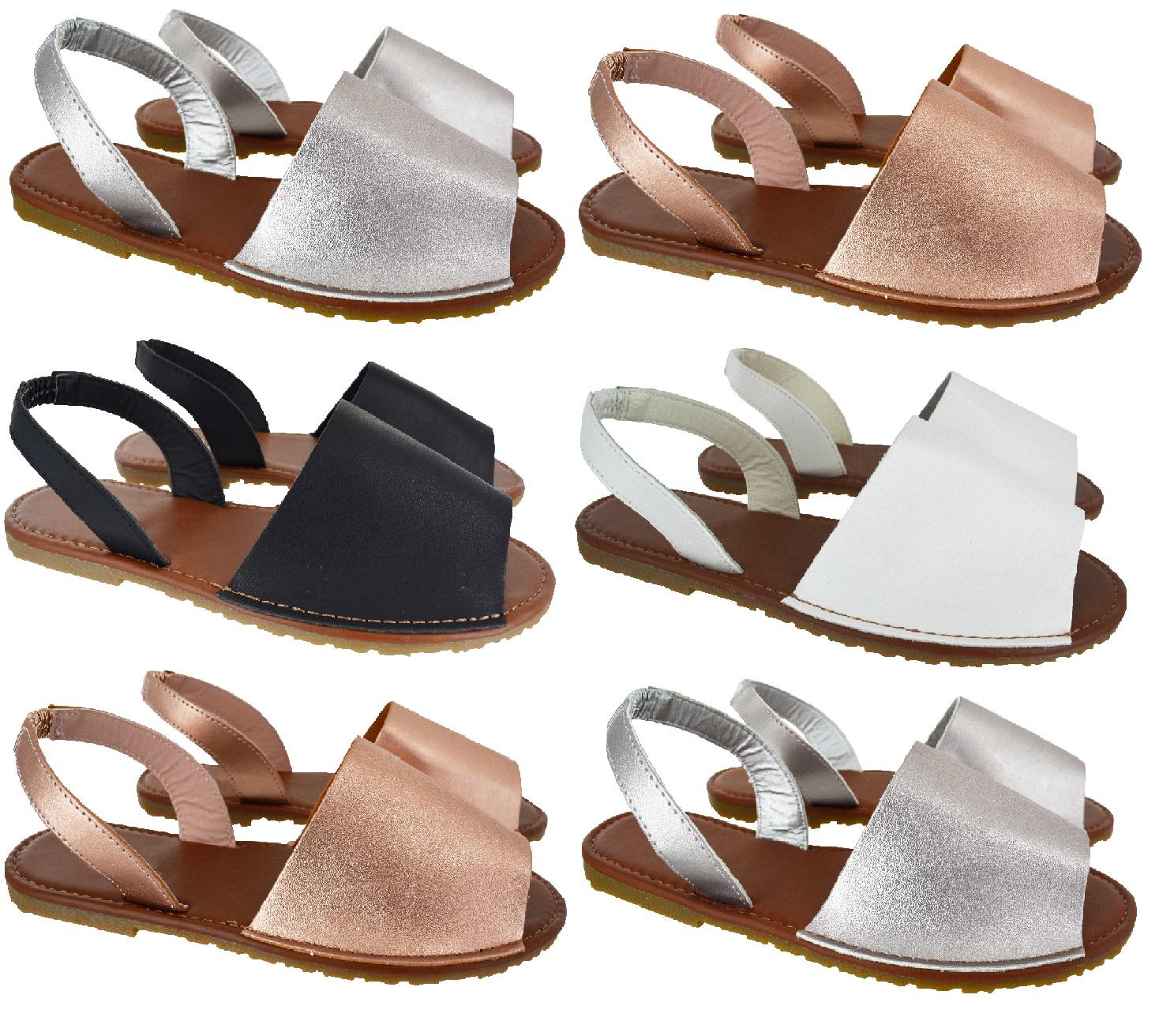 Sandals shoes summer - Ladies Womens Summer Menorcan Flat Slingback Open Toe Spanish Sandals Shoes Sz
