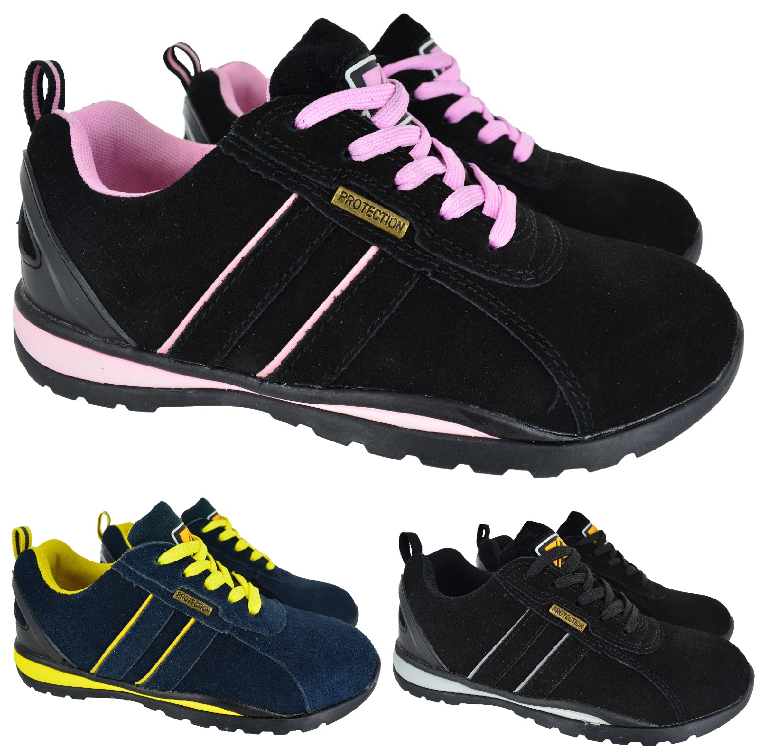 womens leather safety work steel toe cap hiking