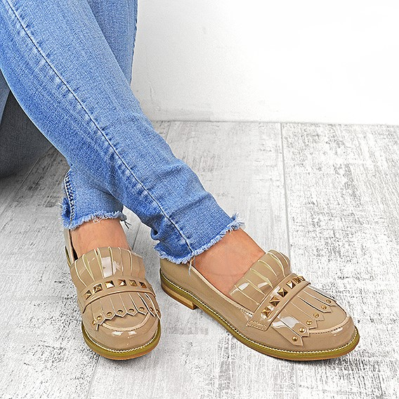 womens flat creeper chunky sole school work dolly