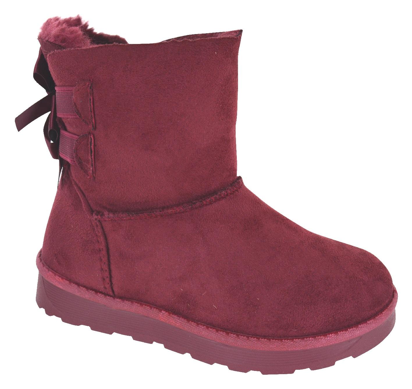 NEW GIRLS KIDS WARM ANKLE GRIP SOLE SNOW SNUGG WINTER CHILDREN BOOTS SIZE 10-2