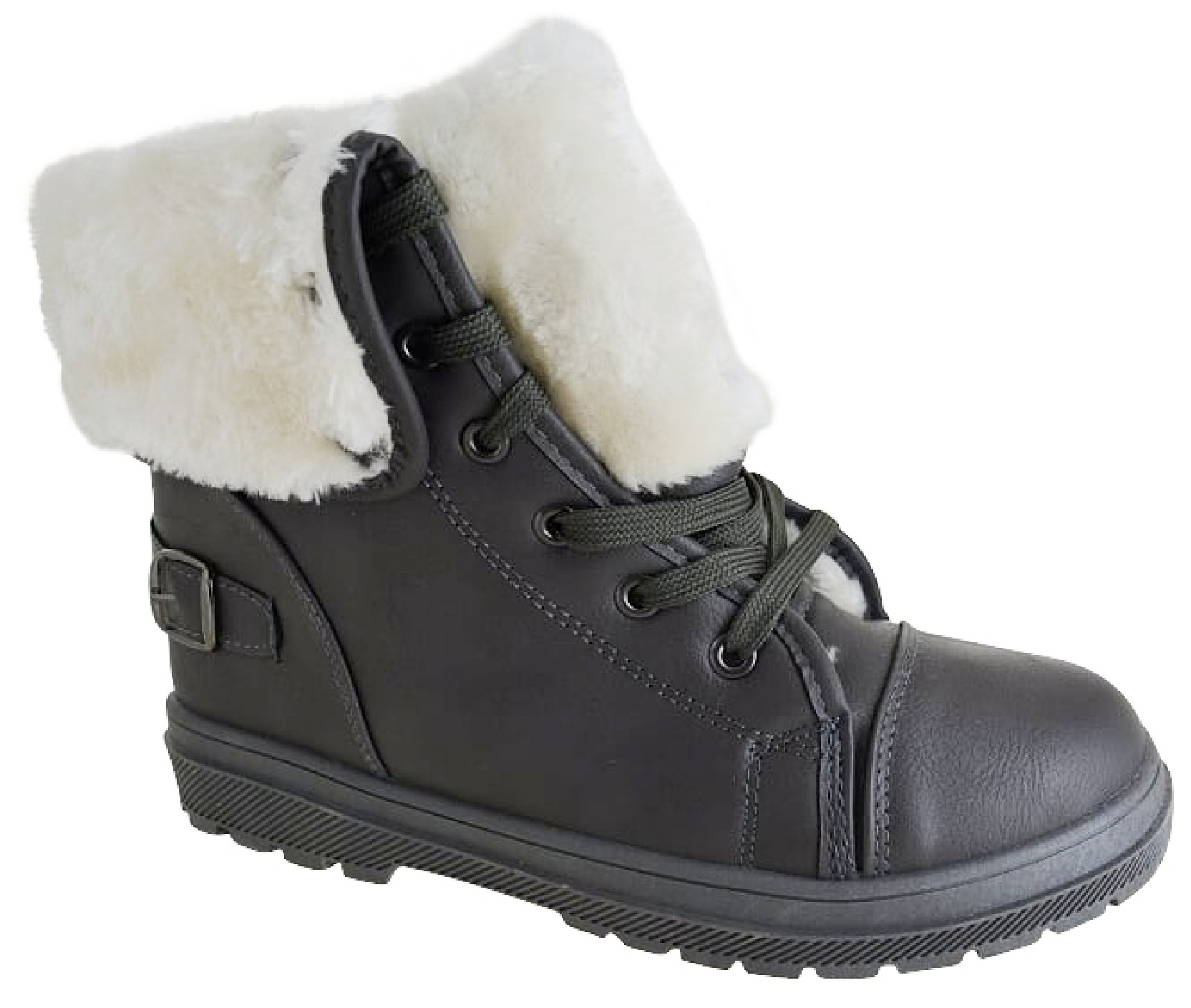 LADIES WINTER FAUX FUR LINED SHOES WOMENS CASUAL COMFY TRAINERS ANKLE BOOTS SIZE