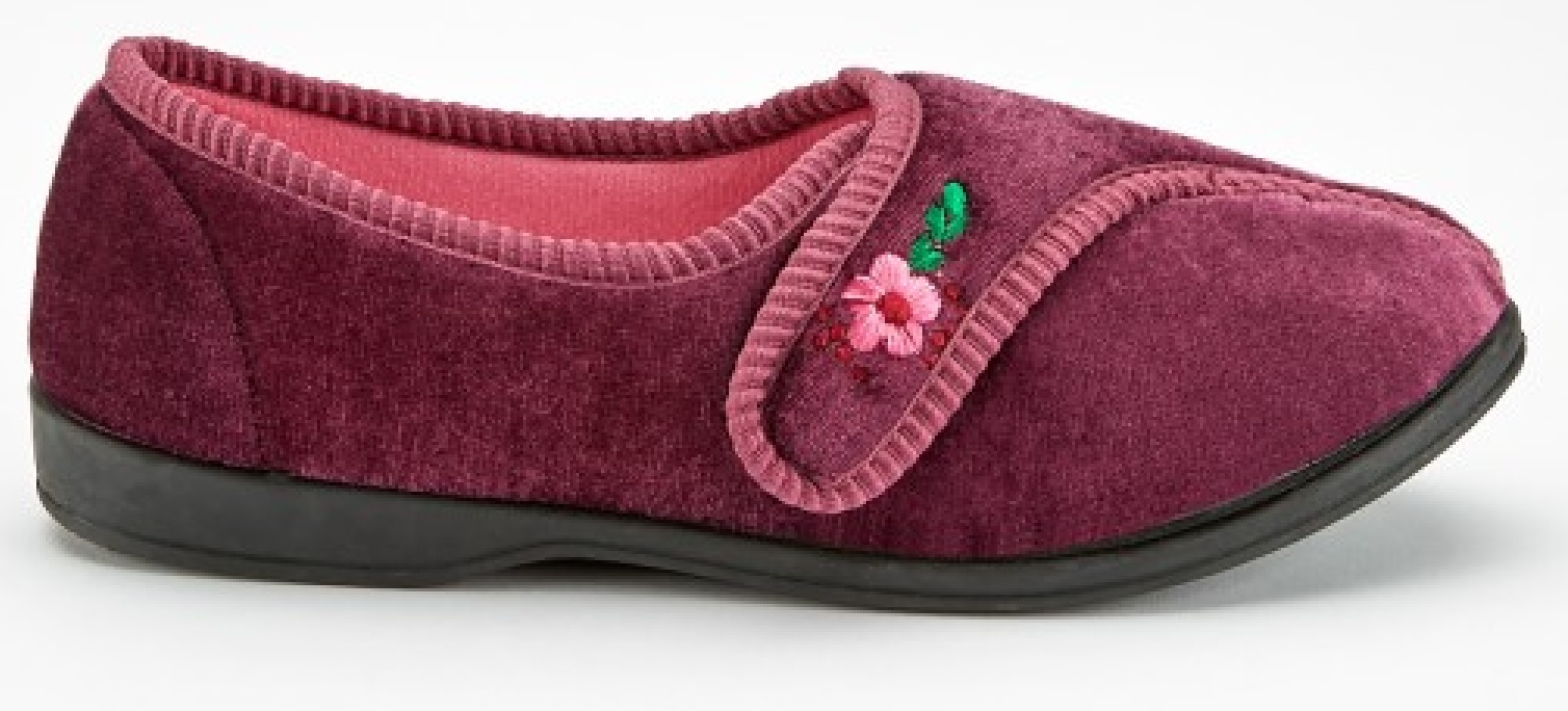 WOMENS LADIES WARM SOFT OUTDOOR VELOUR STRAP MOCCASINS SLIPPERS MULES SIZE 3-8