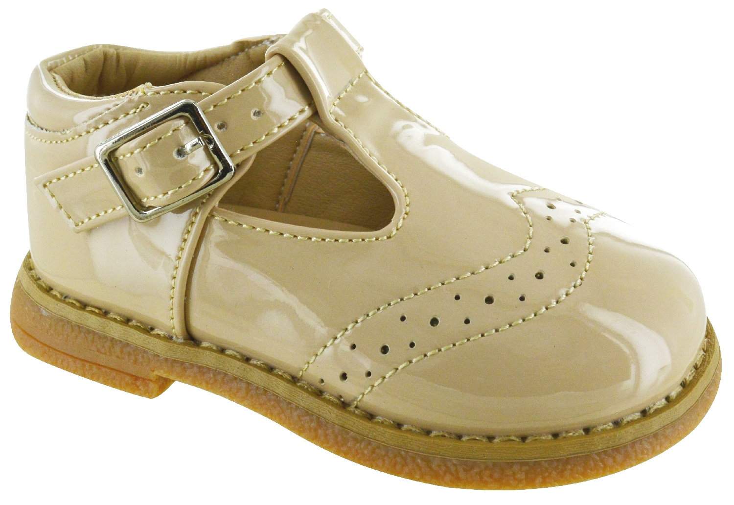 KIDS BABY INFANTS CHILDRENS SPANISH BUCKLE FLAT WEDDING PARTY TOODLER SHOES SIZE