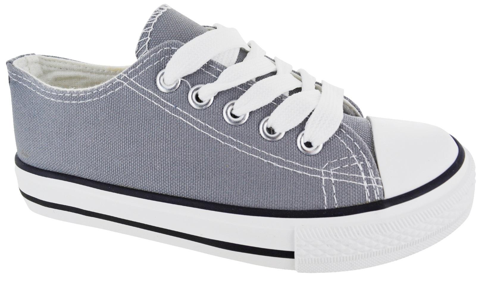 Garçons Filles Enfants Enfants Extérieur Confortable Sneaker Trainer Plimsoles Chaussures Plates Taille