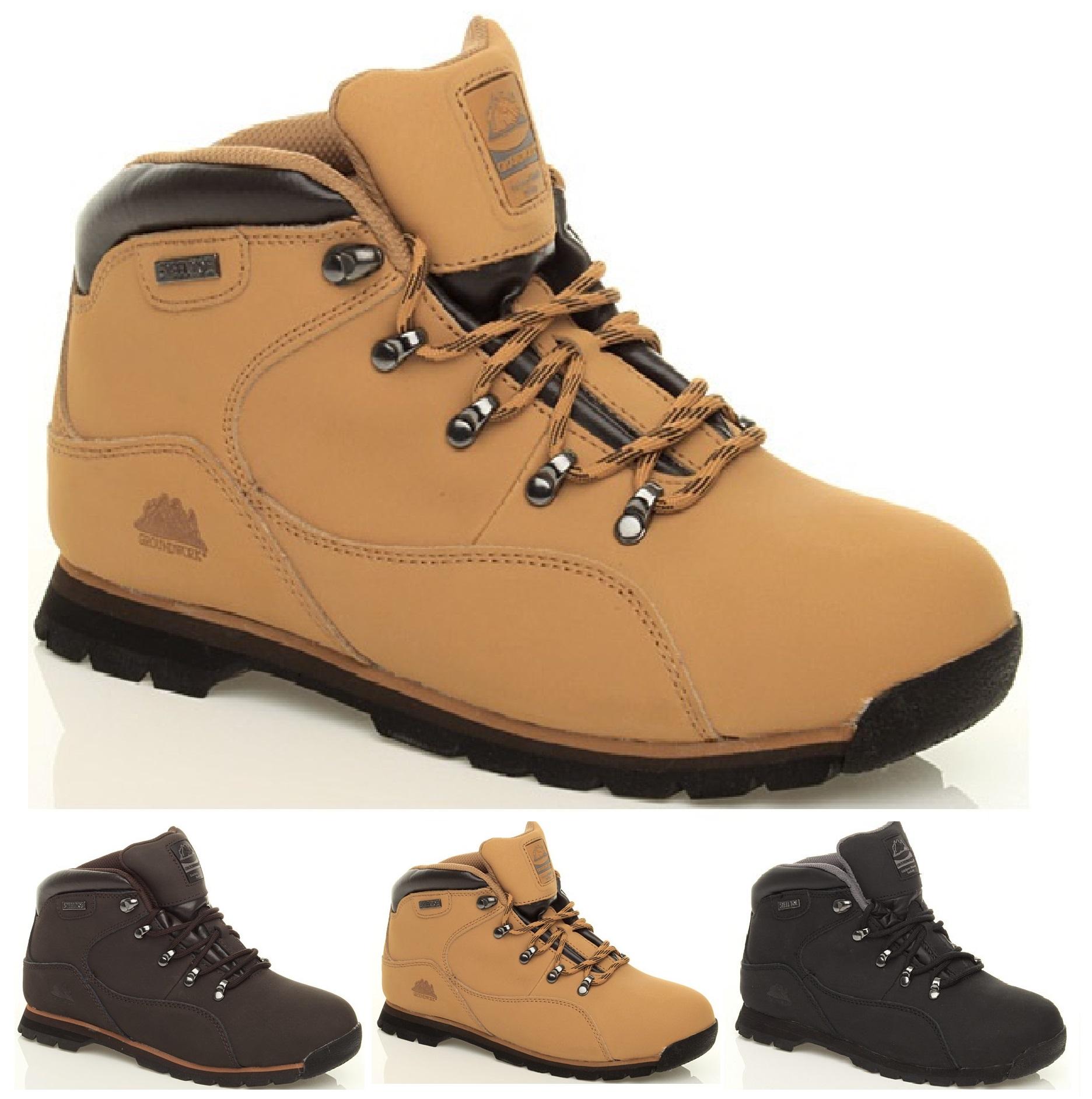 mens safety trainer boots work steel toe cap ankle boot. Black Bedroom Furniture Sets. Home Design Ideas
