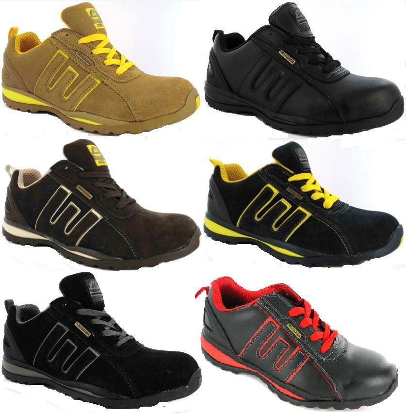 Para hombre de trabajo puntera acero seguridad botas - Zapatillas de trabajo ...
