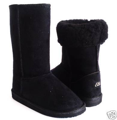 NEW KIDS GIRLS BLACK FUR SNOW FASHION WINTER BOOTS SIZE UK 10-2 ...
