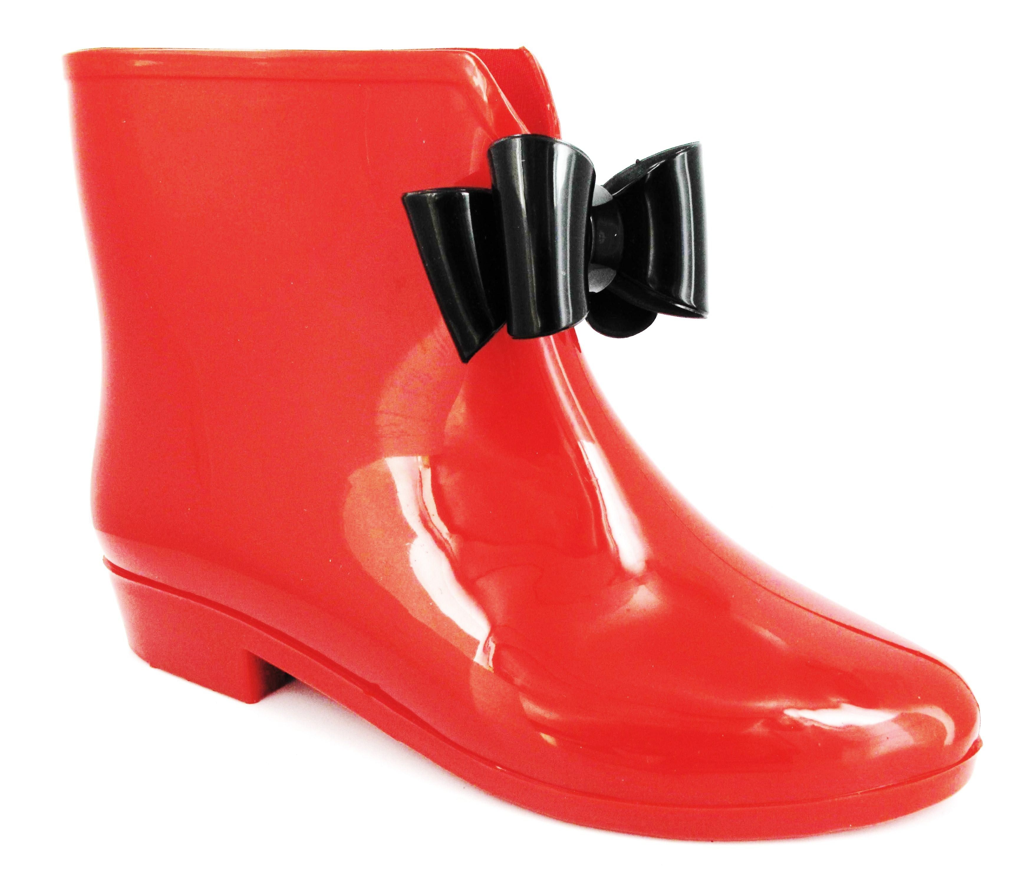 Ladies Fashion Ankle Short Welly Wellington Rain Snow Waterproof Boot SZ UK 3-8