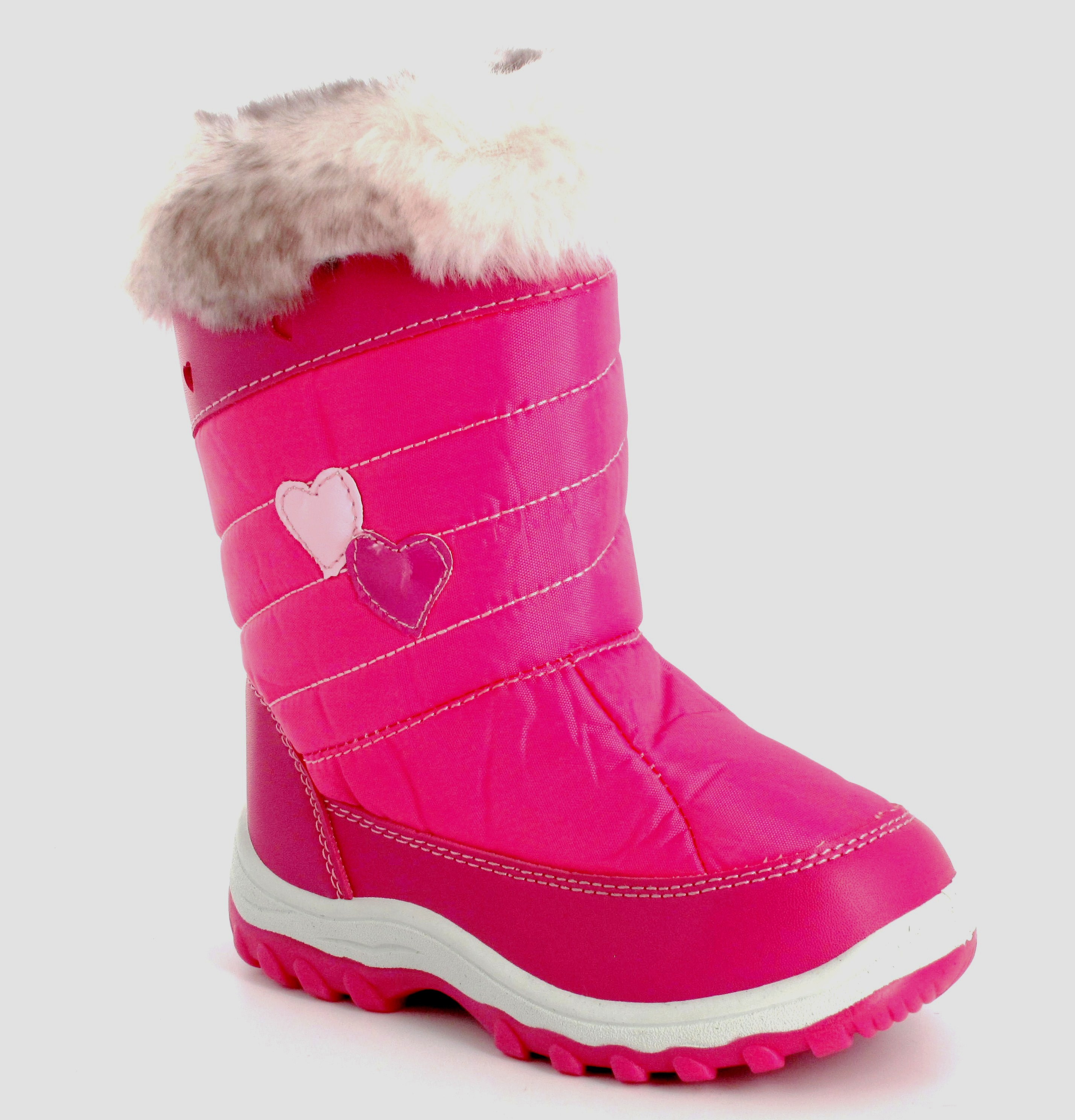 kid winter pink fur snow boots uk size 10 11 12 only