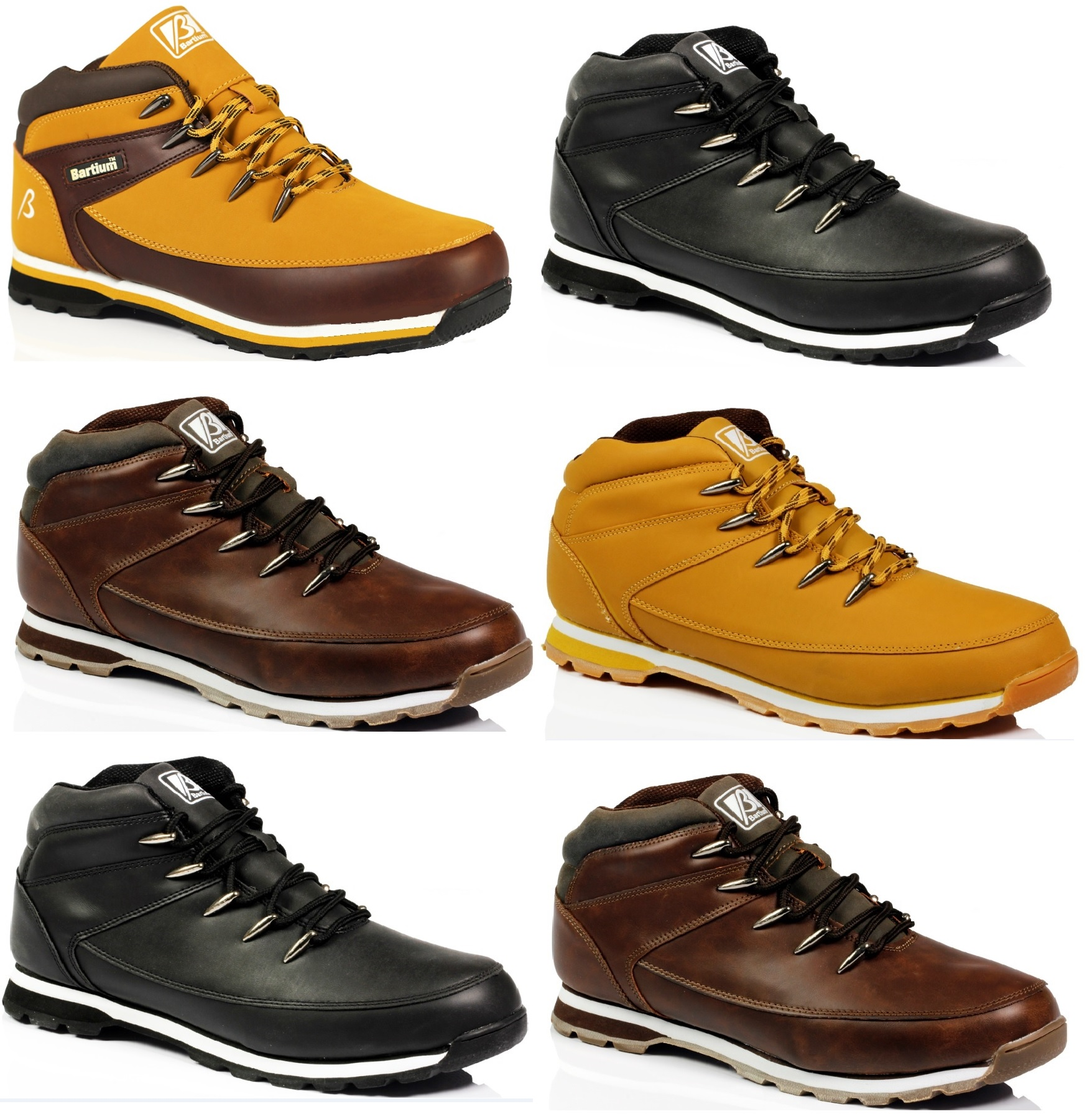 mens lace up ankle outdoor walking work hiking casual