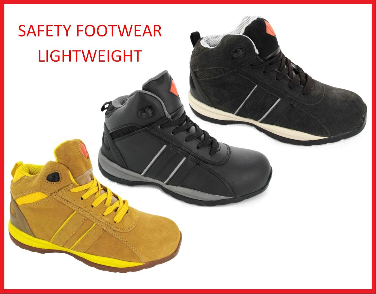 Safety Footwear Mens Steel Toe Cap Work Boots High Top ...