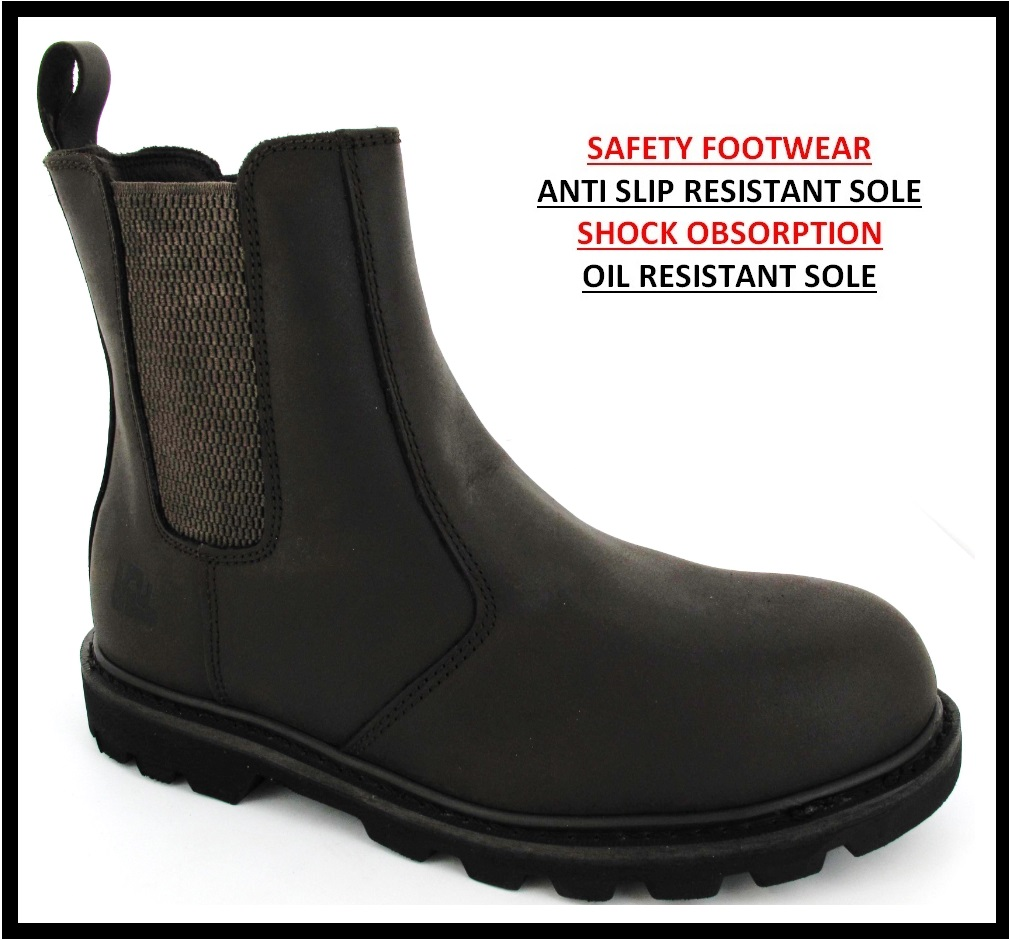 steel toe cap mens work safety shoes boots ankle boots