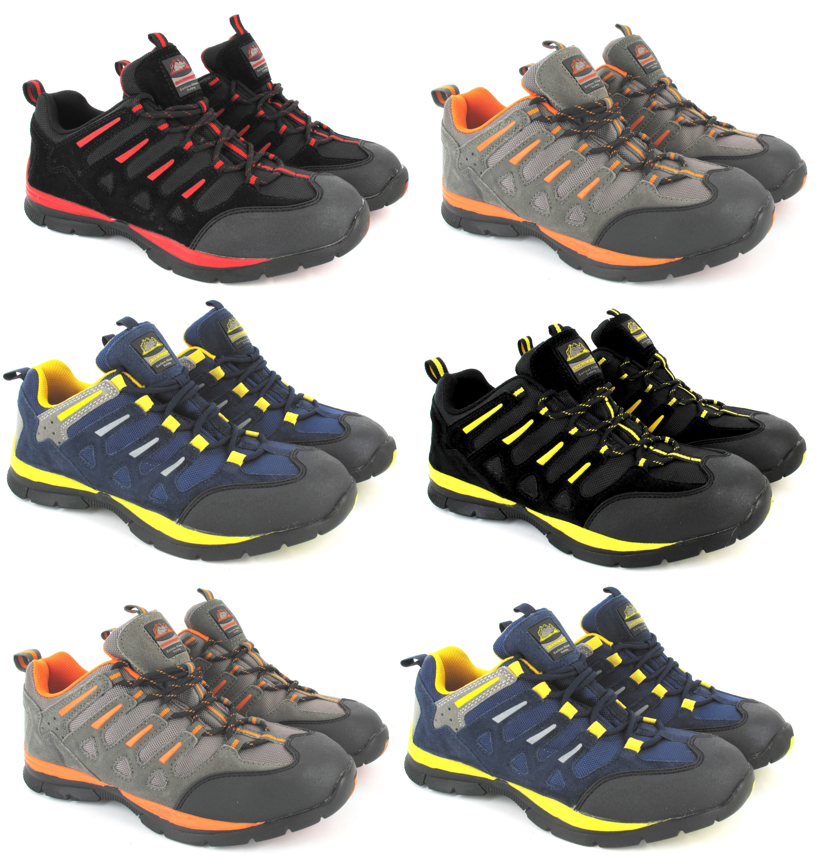 Hombres liviano nuevo con puntera de acero seguridad - Zapatillas de trabajo ...