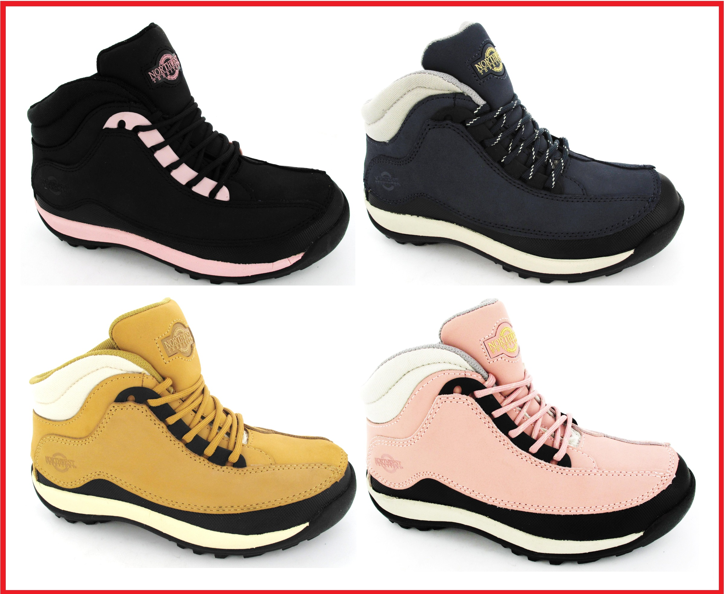 womens safety steel toe cap work hiking leather