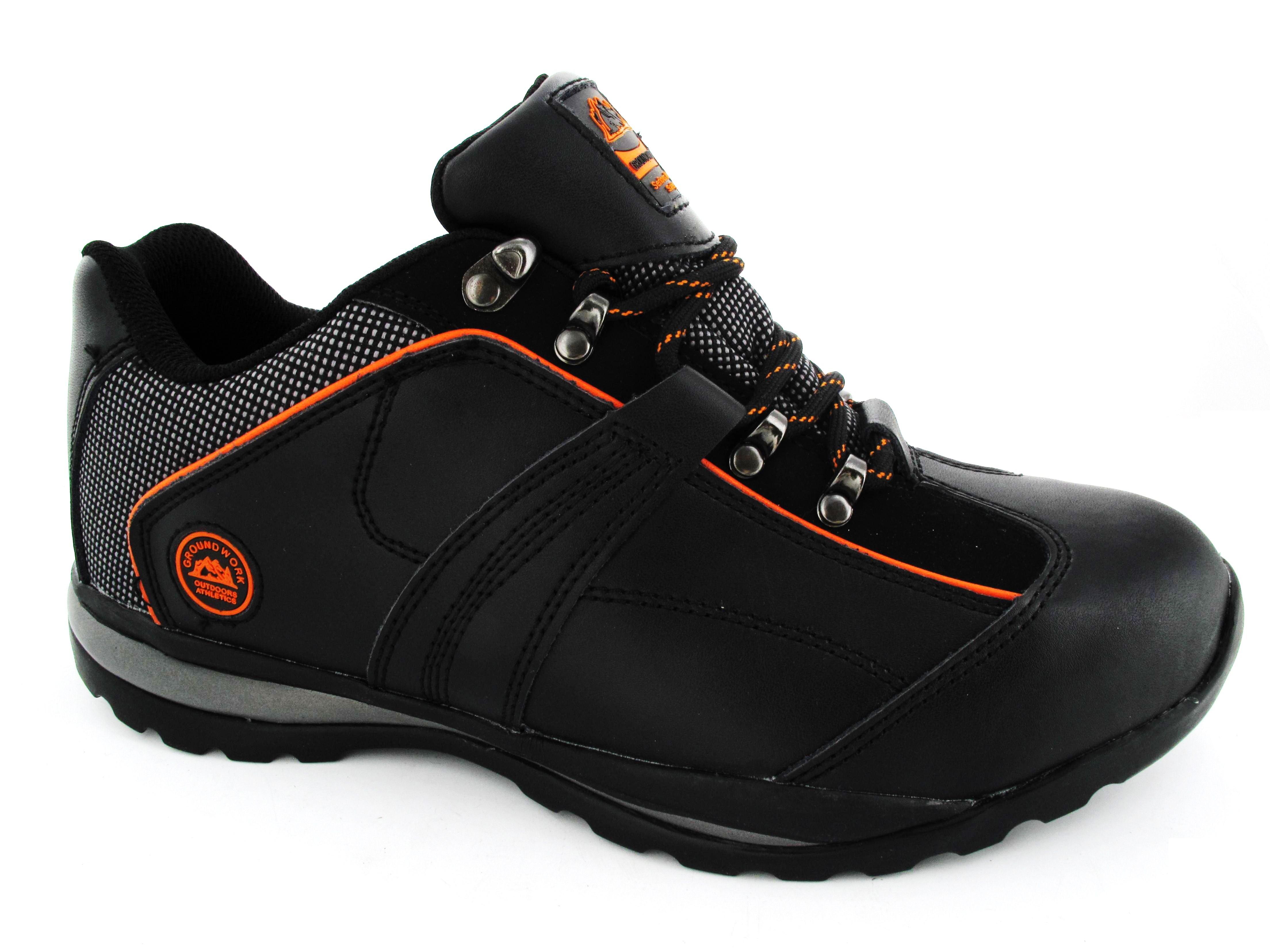 mens safety trainers groundwork black steel toe cap work. Black Bedroom Furniture Sets. Home Design Ideas