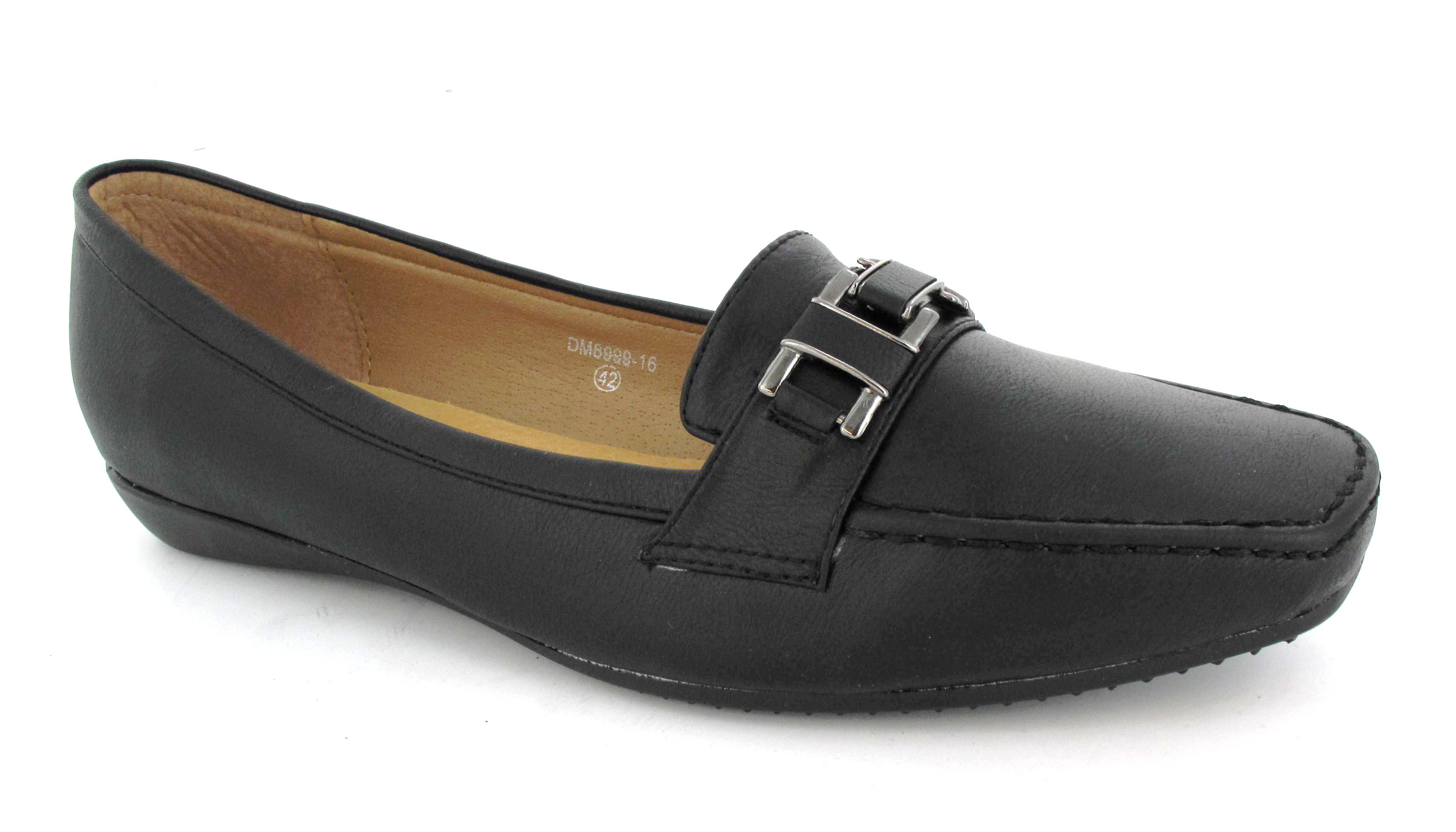 womens black slip on loafer comfort black smart
