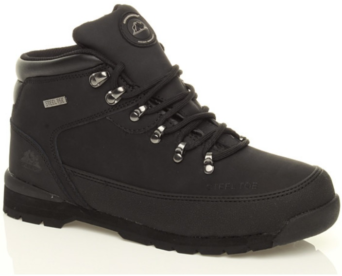 mens safety steel toe cap boots leather hiking work shoes